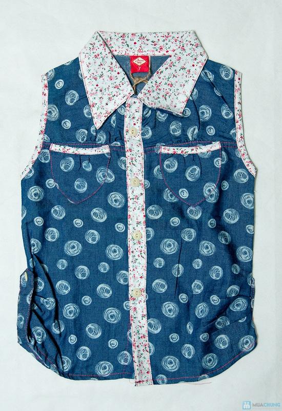 Combo 2 Áo sơ mi giả jeans cho bé gái 1-8 tuổi - 1