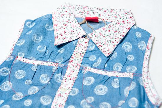 Combo 2 Áo sơ mi giả jeans cho bé gái 1-8 tuổi - 2