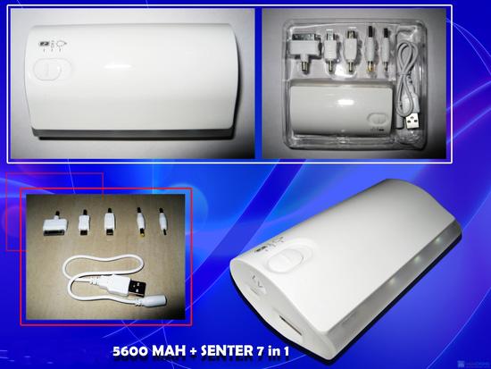 Pin tích điện chính hãng Power Bank 5600mAh - 1