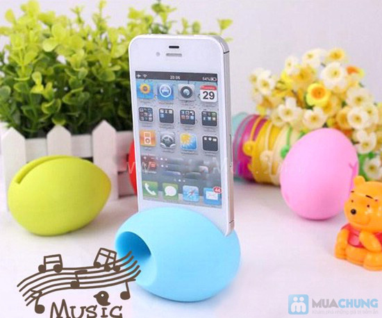 Loa trứng Silicon cho iPhone - 3