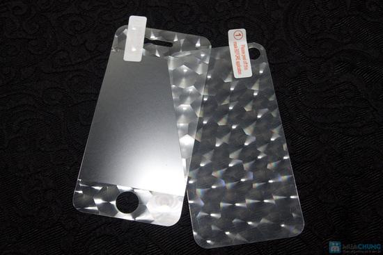 Combo miếng dán màn hình vân 3D + bộ viền iPhone 4/4S - 4