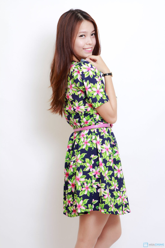 váy hoa họa tiết - 4