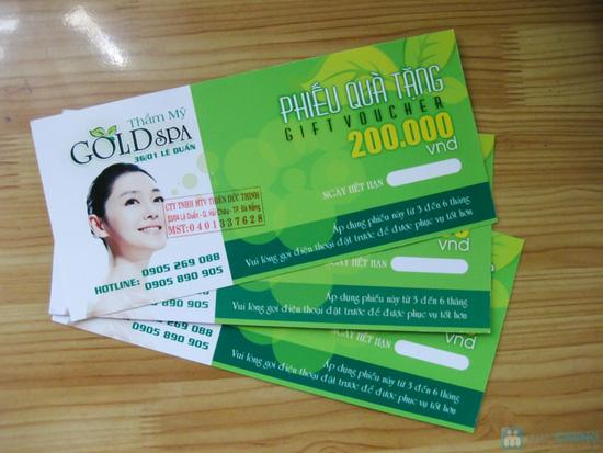 Phiếu quà tặng sử dụng dịch vụ tại Gold Spa - Chỉ 100.000đ được phiếu 200.000đ - 1