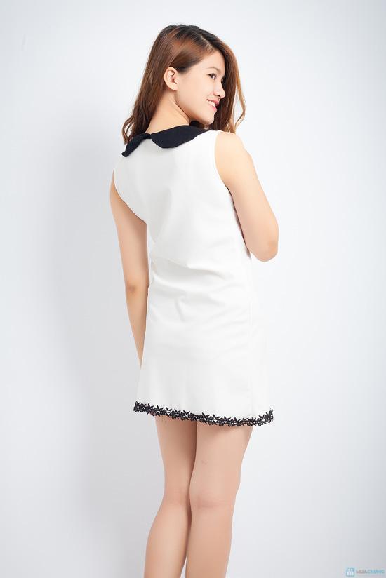 Đầm cổ nẹp kim loại, dáng suông thanh lịch - 5