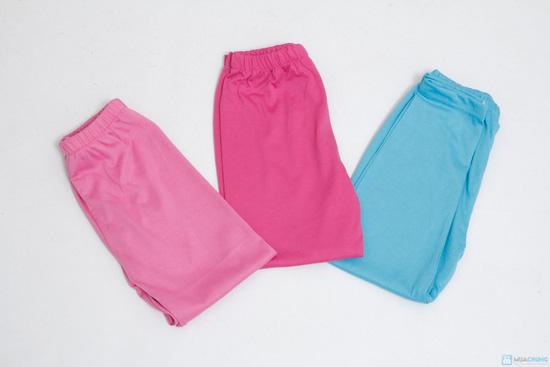 combo 3 quần legging cotton mịn cho bé gái (size 2,3) - 5
