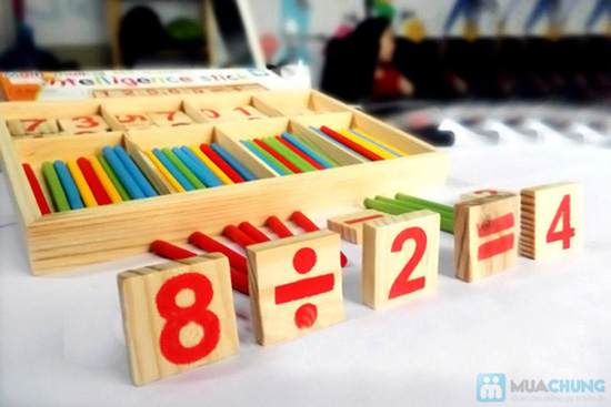 Bộ số và que tính bằng gỗ - 4