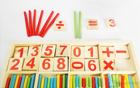 Bộ số và que tính bằng gỗ - 1