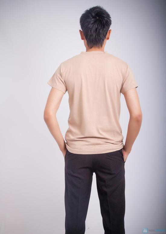 Combo 2 áo thun body nam cổ tim - 6