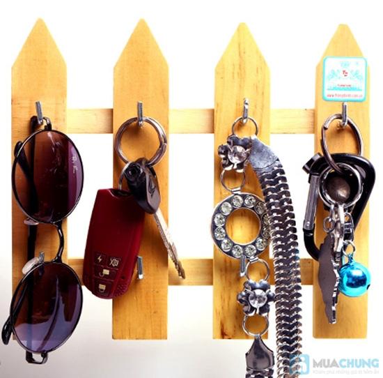 Combo 2 móc treo chìa khóa hàng rào gỗ - 5