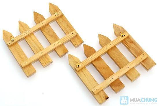 Combo 2 móc treo chìa khóa hàng rào gỗ - 2