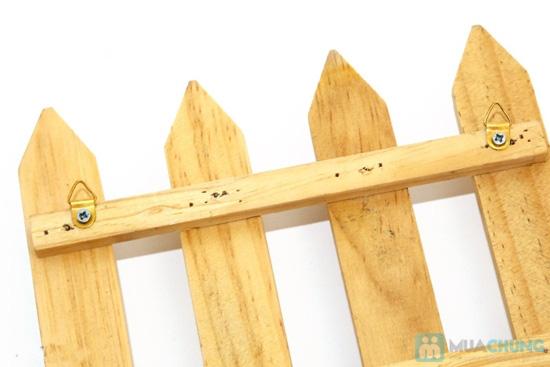 Combo 2 móc treo chìa khóa hàng rào gỗ - 4