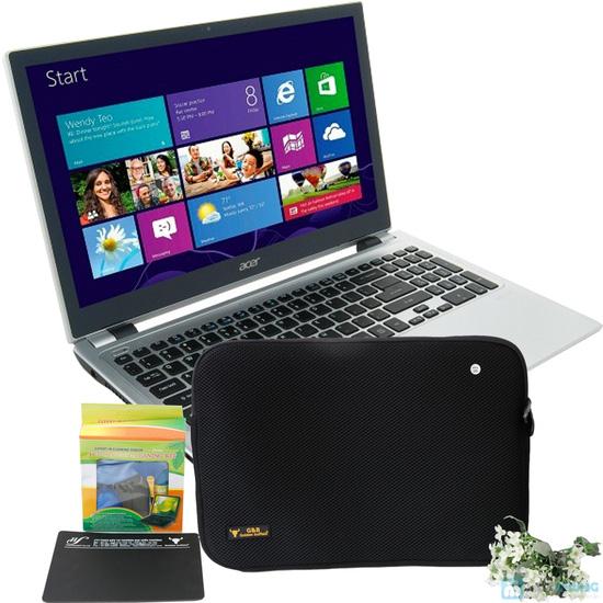 Túi chống sốc GB 14.1 hoặc 15.6 1 tặng kèm 1 tấm lót chuột GB 3.5 hoặc 1 bộ vệ sinh laptop - 6