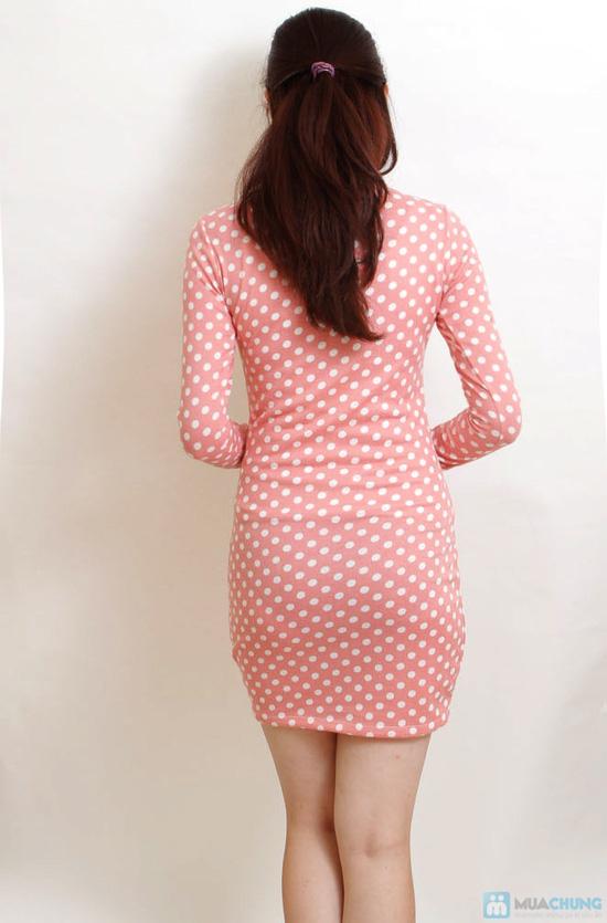 Váy len hồng chấm bi - 2