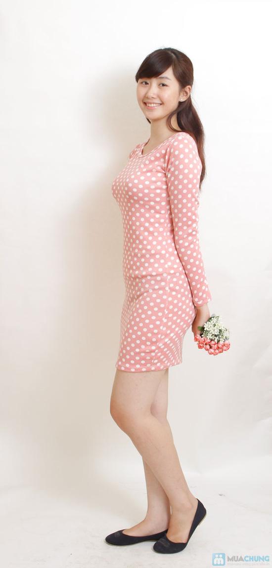 Váy len hồng chấm bi - 4