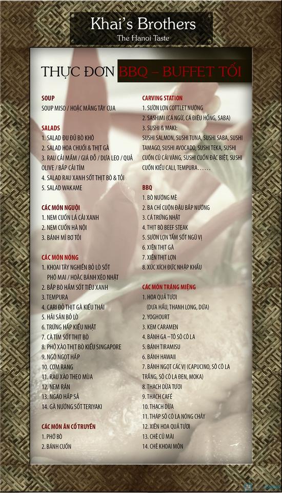 KhaiSilk Brother-Combo File Bò Tây Ban Nha + Buffet Trên 45 Món Truyền Thống Quý Tộc Việt Nam tối thứ 2 đến thứ 5 - 1