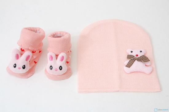 Combo tất 3D + mũ len - 5