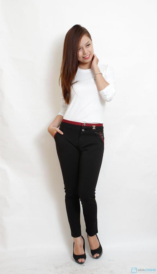 Quần skinny cotton cho bạn gái - 3