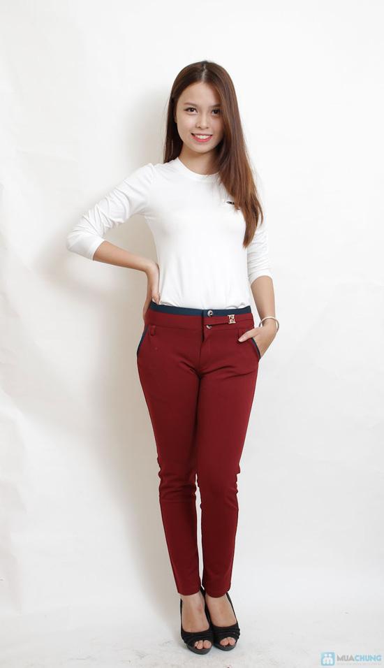 Quần skinny cotton cho bạn gái - 2
