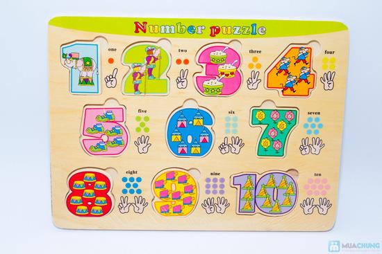 Đồ chơi xếp hình trí tuệ bằng gỗ cho bé - 4