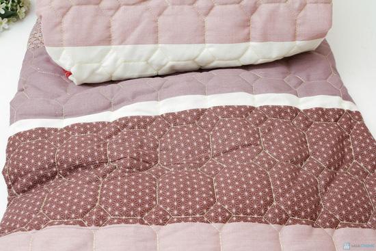 Bộ ga chun + vỏ gối chần bông cotton ấm áp cho mùa Đông - 2