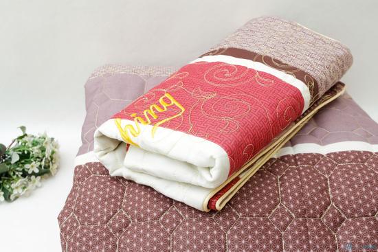 Bộ ga chun + vỏ gối chần bông cotton ấm áp cho mùa Đông - 1