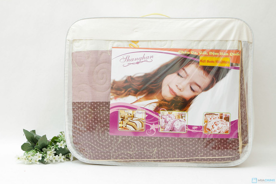 Bộ ga chun + vỏ gối chần bông cotton ấm áp cho mùa Đông - 10