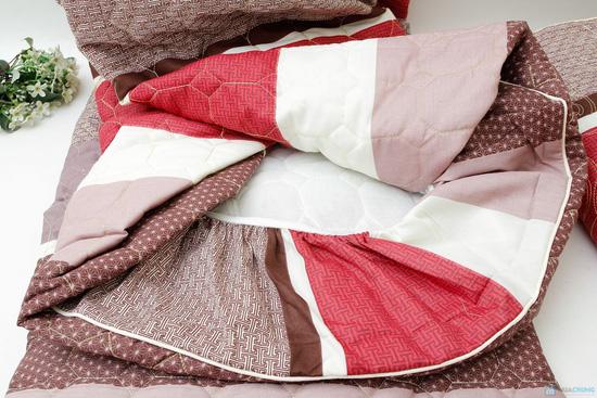 Bộ ga chun + vỏ gối chần bông cotton ấm áp cho mùa Đông - 3