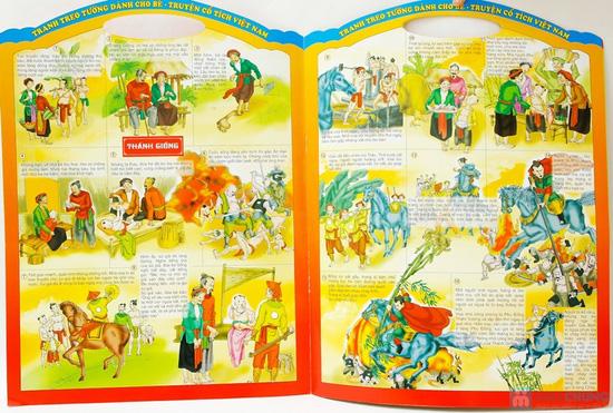 Tranh treo tường cho bé phát triển trí thông minh (tập 1+2) + Tranh treo tường Truyện cổ tích Việt Nam - 13