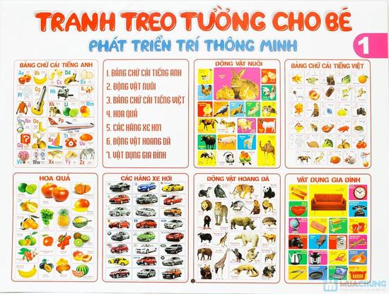 Tranh treo tường cho bé phát triển trí thông minh (tập 1+2) + Tranh treo tường Truyện cổ tích Việt Nam - 3