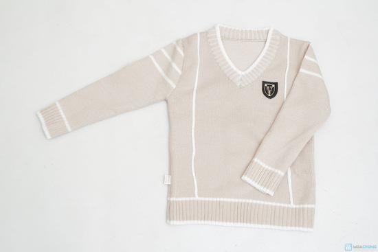 combo 2 áo len cổ tim cho bé trai - 5