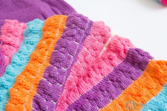 Bộ khăn mũ len kết hoa cho bé gái - 2