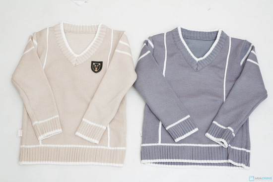 combo 2 áo len cổ tim cho bé trai - 4