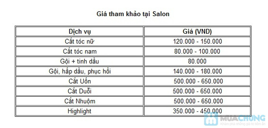 Dịch uốn/duỗi/nhuộm tại Salon Tóc Việt - 1