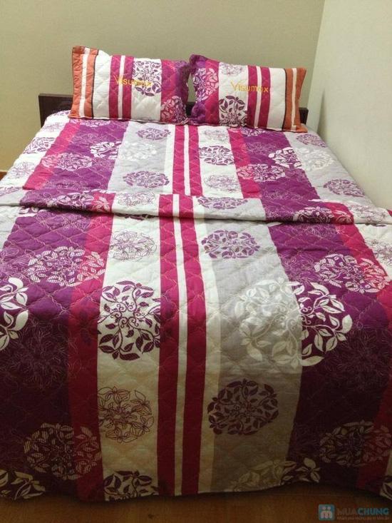 Làm ấm phòng ngủ với Bộ vỏ chăn, ga, gối chần bông cao cấp - 3