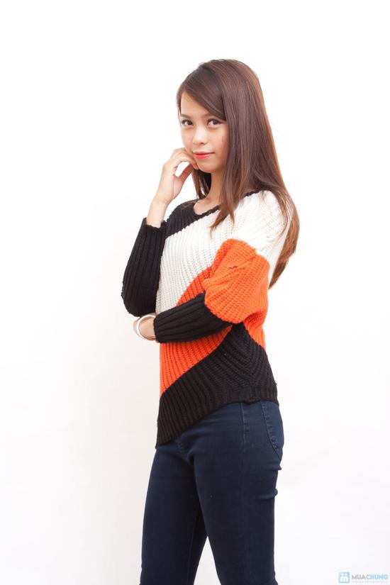 Áo len ba màu cá tính - 4