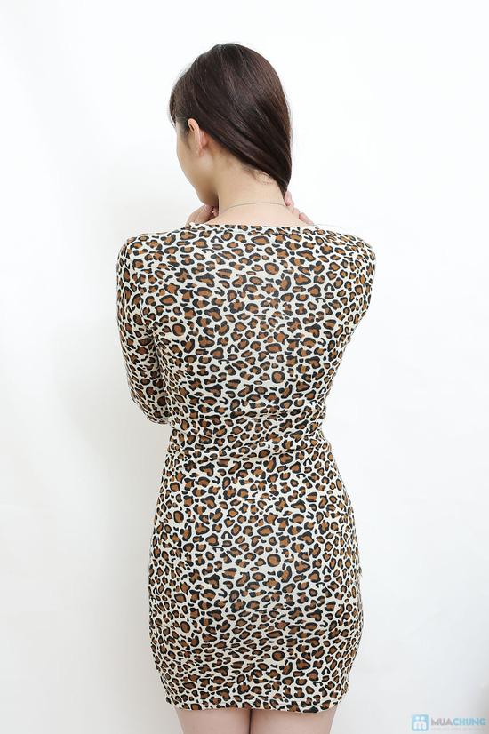 váy len da báo - 3