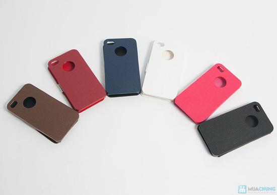 Bao da + miếng dán màn hình 3D cho iPhone 4/4S - 1