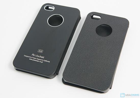 Bao da + miếng dán màn hình 3D cho iPhone 4/4S - 5