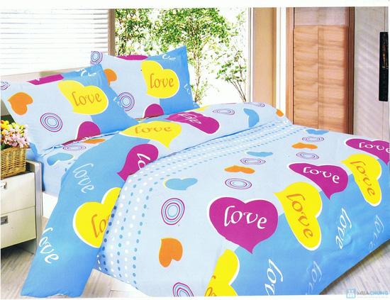 Drap cotton kiểu dáng Hàn Quốc (1 drap + 2 vỏ gối nằm + 1 vỏ gối ôm) - 7