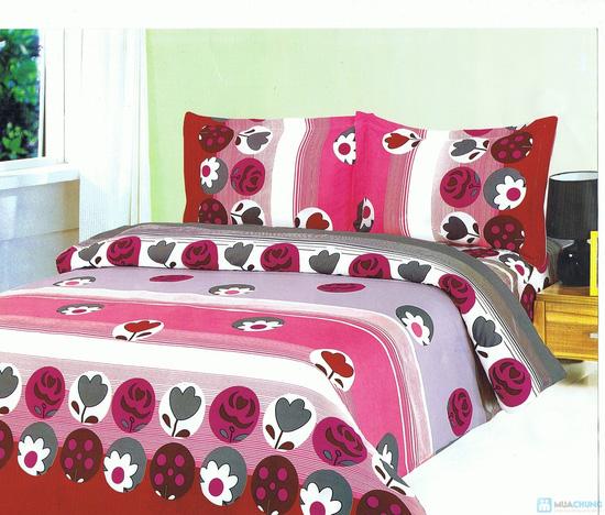 Drap cotton kiểu dáng Hàn Quốc (1 drap + 2 vỏ gối nằm + 1 vỏ gối ôm) - 1