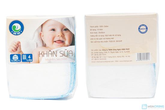 Combo 30 khăn sữa cho bé (loại 4 lớp) - 1