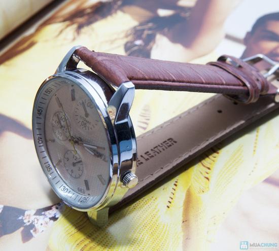 Đồng hồ nam mặt tròn cá tính - 2