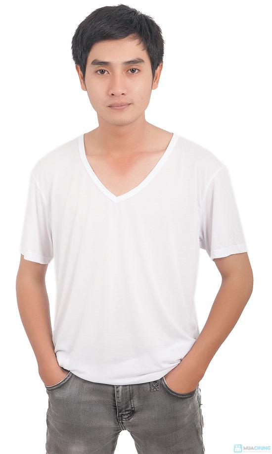 Combo 2 áo thun body cổ tim cho nam - 7