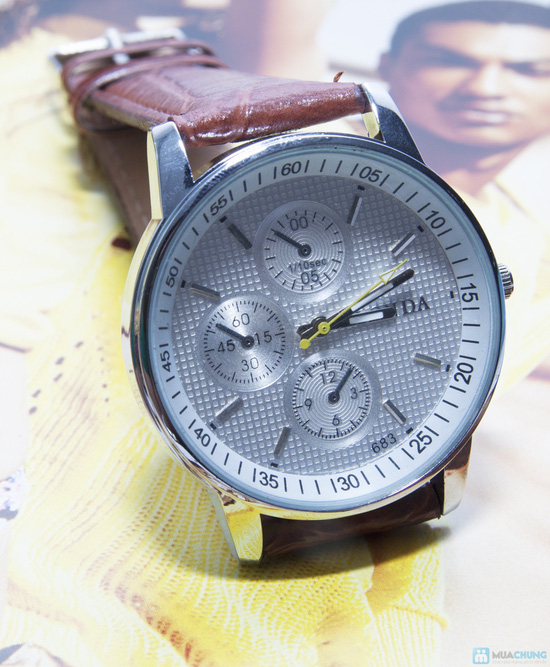 Đồng hồ nam mặt tròn cá tính - 3