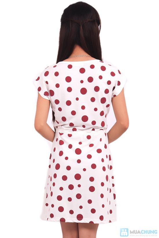 Đầm chấm bi cho nữ - 5