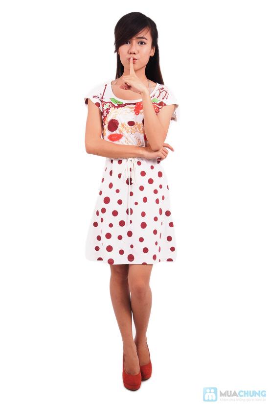 Đầm chấm bi cho nữ - 2