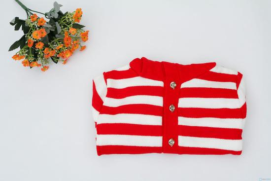 áo len cài cúc cho bé gái - 8