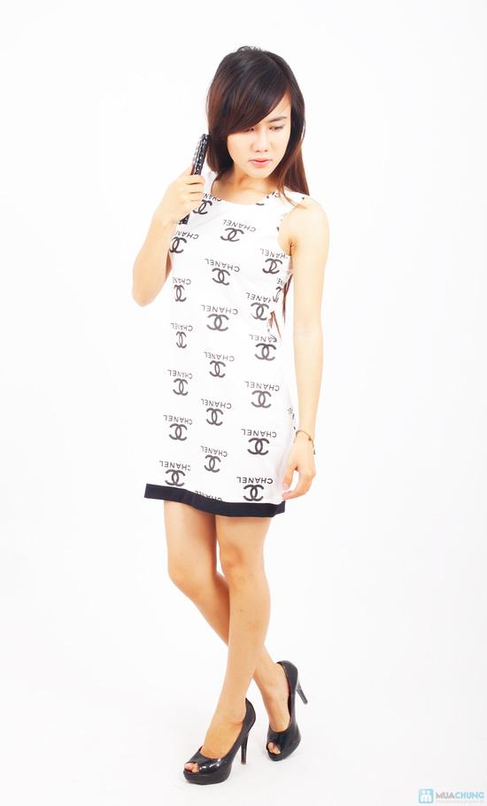 Đầm thun Chanel xinh xắn - 2