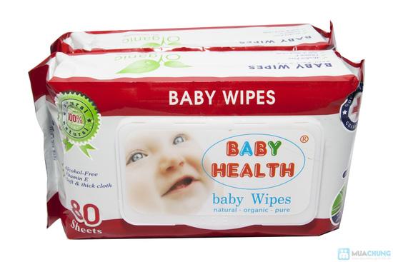 Combo 5 gói khăn ướt Baby Health (80 miếng/ gói) - 5