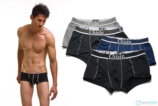 Bộ 4 quần lót boxer nam thun lạnh Chisin - 1